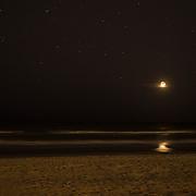 Moon over Gulf of Mexico, Florida