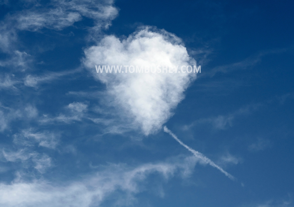Middletown, NY - A heart-shaped cloud on June 27, 2009.