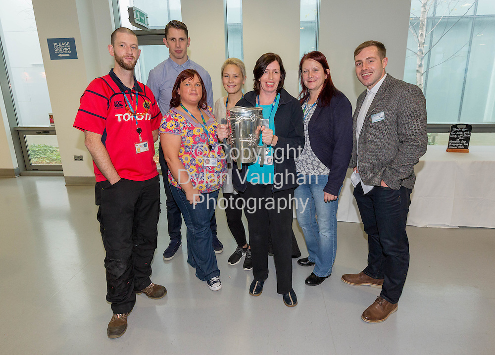 Repro Free No Charge for Repro<br /> 28-11-15<br /> Fintan Hanrahan; Maurice Shanahan; Sinead Power; Erica Sweeney; Rachel O&rsquo;Shea; Margaret Hurton and Noel Connors at the Waterford GAA/Genzyme Health &amp; Wellbeing conference held at the Waterford site of Genzyme, a Sanofi Company<br /> <br /> Picture Dylan Vaughan.