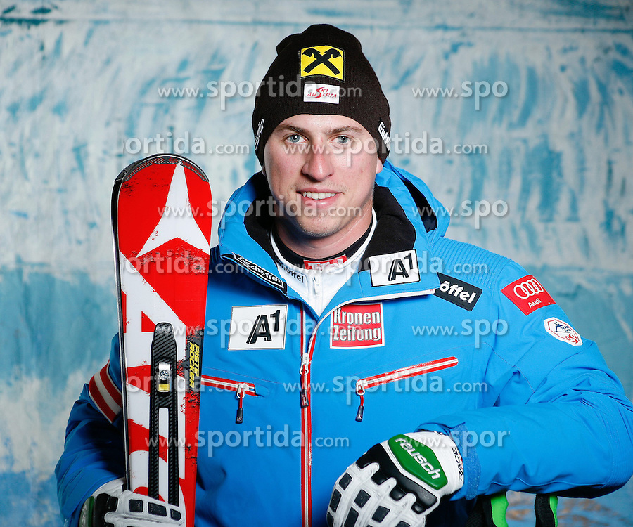 20.10.2012, Messehalle, Innsbruck, AUT, OeSV, Ski Alpin, Fototermin, im Bild Max Franz (OeSV, Skirennlaeufer) // during the official Portrait and Teamshooting of the Austrian Ski Federation (OeSV) at the Messehalle, Innsbruck, Austria on 2012/10/20. EXPA Pictures © 2012, PhotoCredit: EXPA/ OeSV/ Erich Spiess