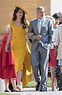 Clooneys, Beckham & Celebs At Meghan-Harry Wedding