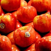 Honey Crisp Apples on Display at Public Market Center in Seattle, Washington