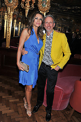 ELIZABETH HURLEY and PATRICK COX at the 50th birthday party for Patrick Cox held at the Café Royal Hotel, 68 Regent Street, London on 15th March 2013.