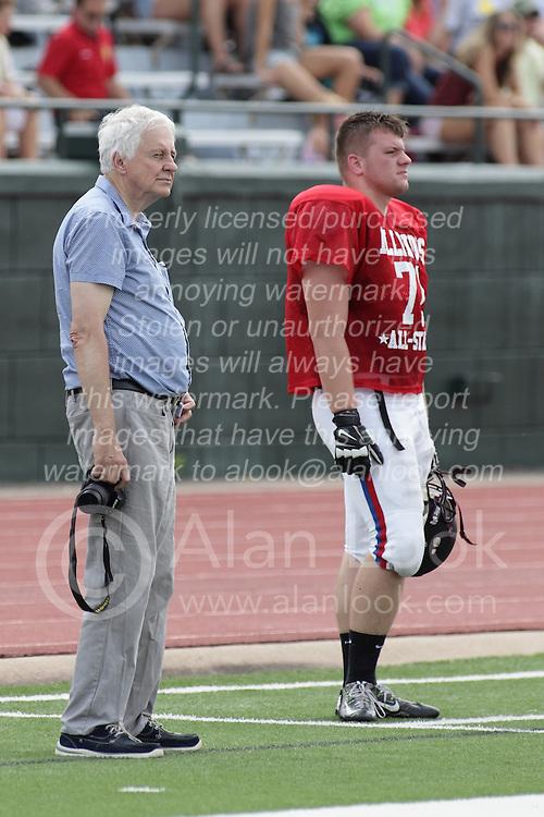 20 June 2015: Ed Pyne and Michael Dzierzega Illinois Shriner High School All Stars Football At Tucci Stadium in Bloomington Illinois