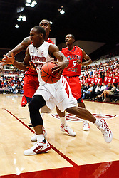 Nov 14, 2011; Stanford CA, USA;  Stanford Cardinal guard Gabriel Harris (23) dribbles along the baseline against the Fresno State Bulldogs during the first half of a preseason NIT game at Maples Pavilion. Mandatory Credit: Jason O. Watson-US PRESSWIRE