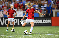 September 19, 2017 - Cincinnati, OH, USA - Cincinnati, OH - Tuesday September 19, 2017: Samantha Mewis during an International friendly match between the women's National teams of the United States (USA) and New Zealand (NZL) at Nippert Stadium. (Credit Image: © Brad Smith/ISIPhotos via ZUMA Wire)