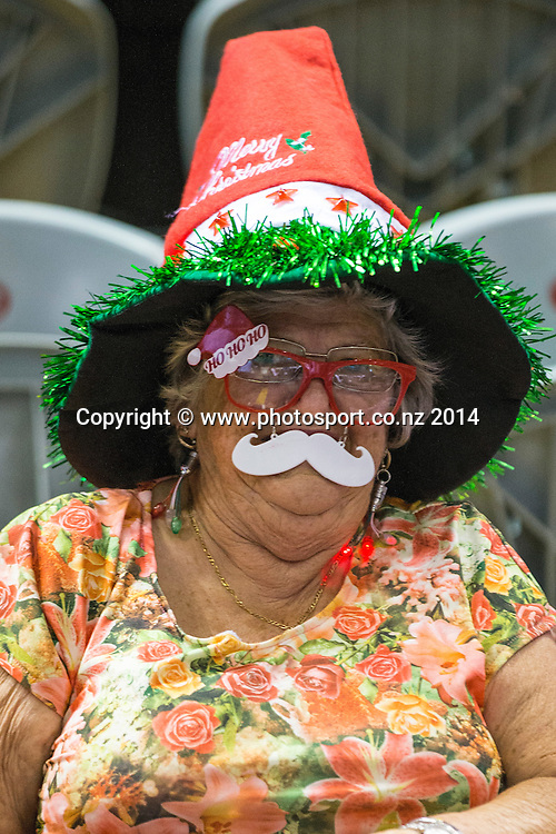 Christmas Supporter at the game between SkyCity Breakers v Townsville Crocodiles. 2014/15 ANBL Basketball Season. North Shore Events Centre, Auckland, New Zealand, Friday, December 19, 2014. Photo: David Rowland/Photosport