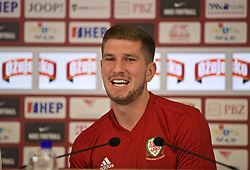 OSIJEK, CROATIA - Friday, June 7, 2019: Wales' Chris Mepham during a pre-match press conference at Stadion Gradski vrt ahead of the UEFA Euro 2020 Qualifying Group E match against Croatia. (Pic by David Rawcliffe/Propaganda)