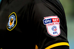 Newport County shirt badge and Sky Bet EFL League Two sleeve badge - Mandatory by-line: Ryan Crockett/JMP - 13/02/2018 - FOOTBALL - One Call Stadium - Mansfield, England - Mansfield Town v Newport County - Sky Bet League Two