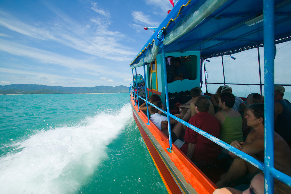 Ferry boat heading to Ko(Koh) Samui, an island in the Gulf of Thailand&amp;#xA;<br />