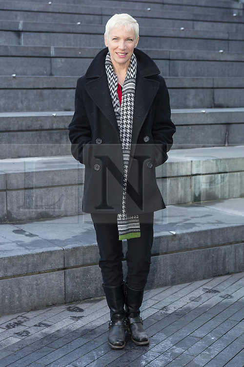 """© Licensed to London News Pictures. 08/03/2015. London, UK. Annie Lennox at the """"Walk In Her Shoes"""" event to mark International Women's Day at The Scoop amphitheatre on the south bank in London. Photo credit : Vickie Flores/LNP"""