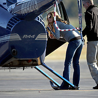 Gisele Bundchen takes helicopter lessons in Massachusetts. photo by Mark Garfinkel