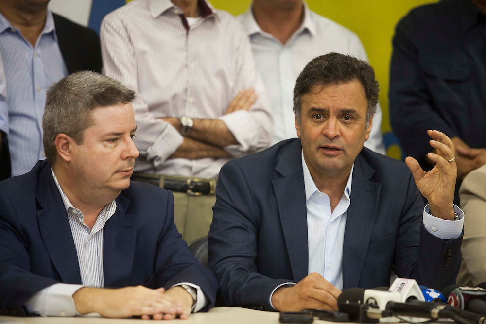 Belo Horizonte_MG, Brasil.<br /> <br /> Reuniao do Senador Aecio Neves com parlamentares na sede do PSDB em Minas Gerais.<br /> <br /> The senator Aecio Neves meeting with parliamentarians in the PSDB headquarters in Minas Gerais.<br /> <br /> Foto: JOAO MARCOS ROSA/NITRO