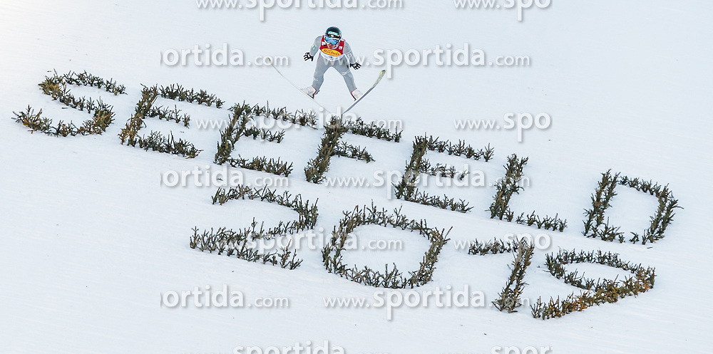 30.01.2016, Casino Arena, Seefeld, AUT, FIS Weltcup Nordische Kombination, Seefeld Triple, Skisprung, Wertungssprung, im Bild Akito Watabe (JPN) // Akito Watabe of Japan competes during his Competition Jump of Skijumping of the FIS Nordic Combined World Cup Seefeld Triple at the Casino Arena in Seefeld, Austria on 2016/01/30. EXPA Pictures © 2016, PhotoCredit: EXPA/ JFK