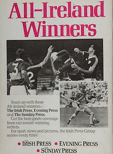 All Ireland Senior Hurling Championship - Final,.02.09.1984, 09.02.1984, 2nd September 1984,.02091984AISHCF,.Cork 3-16, Offaly 1-12,.Senior Cork v Offaly, .Minor Kilkenny v Limerick,.Irish Press, Evening Press, Sunday Press,