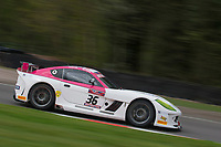 Autoaid/RCIB Insurance Racing #36 Ginetta G55 GT4 Mike Newbould/Michael Caine GT4 Pro/AM  during British GT Championship as part of the BRDC British F3/GT Championship Meeting at Oulton Park, Little Budworth, Cheshire, United Kingdom. April 14 2017. World Copyright Peter Taylor/PSP.