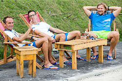 Roman Kejzar, Urban Jereb and Primoz Cernilec of Slovenia resting in the Paralympic Village 1 day ahead of the Rio 2016 Summer Paralympics Games on September 6, 2016 in Rio de Janeiro, Brazil. Photo by Vid Ponikvar / Sportida