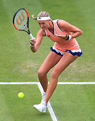 France's Kristina Mladenovic during day three of the Nature Valley Classic at Edgbaston Priory, Birmingham. PRESS ASSOCIATION Photo. Picture date: Wednesday June 20, 2018. See PA story TENNIS Birmingham. Photo credit should read: Mike Egerton/PA Wire. RESTRICTIONS: Editorial use only, no commercial use without prior permission