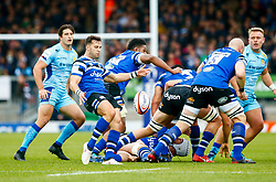 Max Green of Bath Rugby clears the ball from the ruck - Mandatory by-line: Ryan Hiscott/JMP - 03/11/2018 - RUGBY - Sandy Park Stadium - Exeter, England - Exeter Chiefs v Bath Rugby - Premiership Rugby Cup