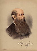 Wilfred Lawson (1829-1906) British Liberal politician and leader of the Temperance movement which opposed the drinking of alcohol.  Other causes he supported were the Disestablishment of the Church of England, Disarmament, and the abolition of the House of Lords.  From 'The Modern Portrait Gallery' (London, c1880). Tinted lithograph.
