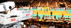 17.09.2011, Stadthalle, Wien, AUT, CEV, Europaeische Volleyball Meisterschaft 2011, Halbfinale, Italien vs Polen, im Bild Feature Volleyball ORF Uebertragung // during the european Volleyball Championship Semi Final Italy vs Poland, at Stadthalle, Vienna, 2011-09-17, EXPA Pictures © 2011, PhotoCredit: EXPA/ M. Gruber
