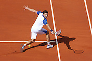 Paris, France. Roland Garros. May 29th 2013.<br /> Latvian player Ernests GULBIS against Gael MONFILS