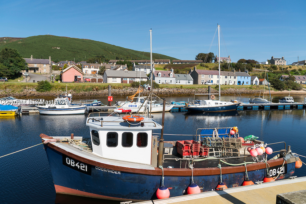 Harbour at Helmsdale in Scotland, Sutherland,United Kingdom