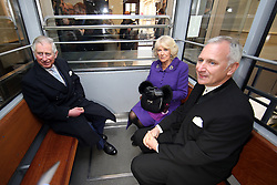 14.03.2016, Zagreb, CRO, der Britische Kronprinz Charles und seine Frau Camilla besuchen Kroatien, im Bild British Crown Prince Charles and his wife Camilla, the Duchess of Cornwall, are visiting Croatia as part of a regional tour that will include Serbia, Montenegro and Kosovo. They visited the historic Upper Town and restoration of buildings that were damaged during bombing in 1991. EXPA Pictures © 2016, PhotoCredit: EXPA/ Pixsell/ Igor Kralj/POOL<br /> <br /> *****ATTENTION - for AUT, SLO, SUI, SWE, ITA, FRA only*****
