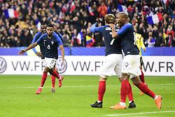 March 23, 2018 - St Denis, France, France - joie des joueurs de l equipe de France apres le but de Thomas Lemar  (Credit Image: © Panoramic via ZUMA Press)