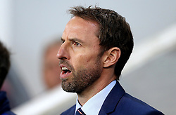 Interim England Manager Gareth Southgate sings the national anthem ahead of the fixture with Slovenia - Mandatory by-line: Robbie Stephenson/JMP - 11/10/2016 - FOOTBALL - RSC Stozice - Ljubljana, England - Slovenia v England - World Cup European Qualifier