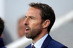 Interim England Manager Gareth Southgate sings the national anthem ahead of the fixture with Slovenia - Mandatory by-line: Robbie Stephenson/JMP - 11/10/2016 - FOOTBALL - RSC Stozice - Ljubljana, England - Slovenia v England - World Cup European Qualifier
