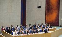 Nederland. Den Haag, 17 september 2008.<br /> De algemene beschouwingen in de tweede kamer, daags na prinsjesdag.<br /> Het kabinet Balkenende IV in vak K.<br /> Foto Martijn Beekman<br /> NIET VOOR PUBLIKATIE IN LANDELIJKE DAGBLADEN.