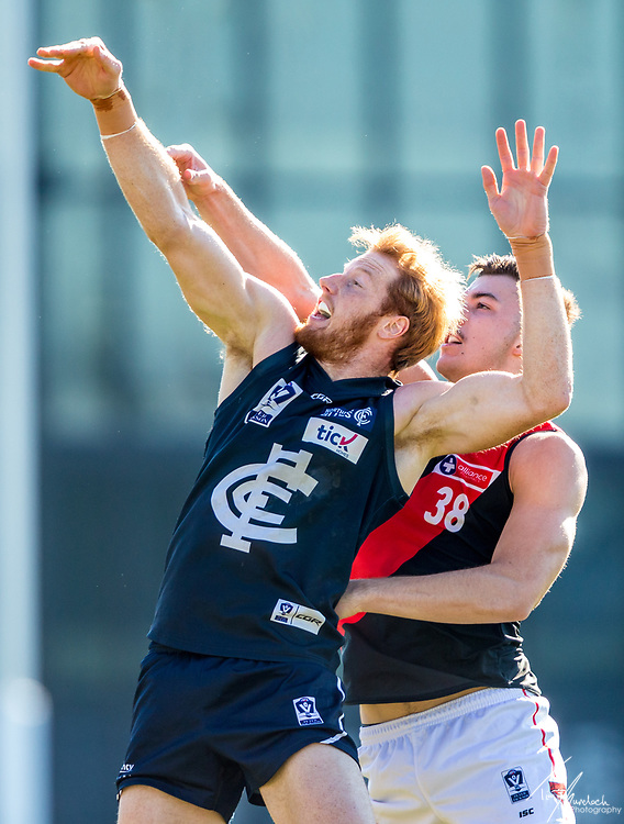 Saturday 26 May 2018<br /> <br /> 2018 Peter Jackson VFL Season<br /> <br /> Northern Blues vs Essendon<br /> Ikon Park<br /> <br /> #PJVFL #NorthBound<br /> <br /> Photo Credit: Tim Murdoch/Tim Murdoch Photography
