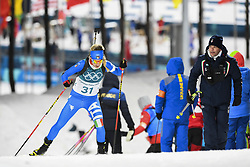 February 11, 2018 - Pyeongchang, GANGWON, SOUTH KOREA - Feb 10, 2018-Pyeongchang, South Korea-Federica SANFILIPPO of Italy action on the snow during an Olympic Biathlon Women Sprint 7.5Km at Biathlon Center in Pyeongchang, South Korea. (Credit Image: © Gmc via ZUMA Wire)