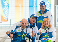 Franc Pinter - Anco, Damjan Pavlin, Francek Gorazd Tirsek Nani and Veselka Pevec of Slovenia during the Rio 2016 Summer Paralympics Games on September 8, 2016 in the Olympic Shooting Centre, Rio de Janeiro, Brazil. Photo by Vid Ponikvar / Sportida