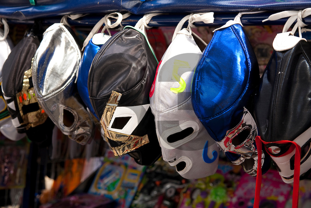 Wrestlers masks in Mexico