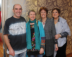 Mick Hogan, Derval Dunford, Anna Doyle and Antionette Hanrahan at Westport&rsquo;s Rolling Sun Book Festival festival over the weekend.<br /> Pic Conor McKeown