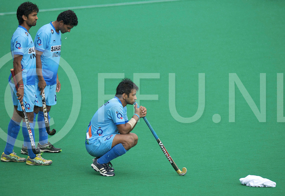 ROTTERDAM - Hock World League Semi Final Men<br /> Spain v India<br /> foto:I Indian sadnes<br /> FFU PRESS AGENCY COPYRIGHT FRANK UIJLENBROEK