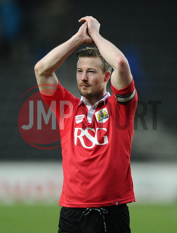 Bristol City's Wade Elliott  - Photo mandatory by-line: Joe Meredith/JMP - Mobile: 07966 386802 - 07/02/2015 - SPORT - Football - Milton Keynes - Stadium MK - MK Dons v Bristol City - Sky Bet League One