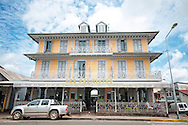 The Hotel des Palmistes in Cayenne, French Guiana, an overseas territory of France in South America.