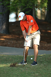 Clemson  head football coach Dabo Swinney during the Chick-fil-A Peach Bowl Challenge at the Ritz Carlton Reynolds, Lake Oconee, on Tuesday, April 30, 2019, in Greensboro, GA. (Chris Collins via Abell Images for Chick-fil-A Peach Bowl Challenge)