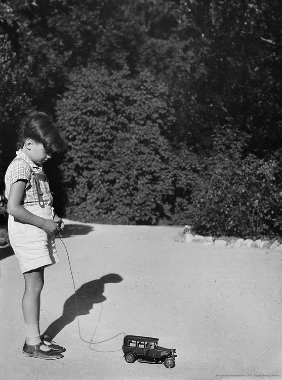 Jacob/Jakob Wasserman's little son with toy car, Austria, c1933