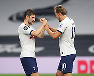 Harry Kane of Tottenham (r) celebrates scoring the second goal with Ben Davies of Tottenham (l) during the Premier League match at the Tottenham Hotspur Stadium, London. Picture date: 23rd June 2020. Picture credit should read: David Klein/Sportimage