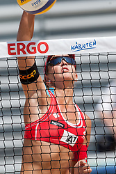 Anouk Verge-Depre of Switzerland at A1 Beach Volleyball Grand Slam presented by ERGO tournament of Swatch FIVB World Tour 2012, on July 17, 2012 in Klagenfurt, Austria. (Photo by Matic Klansek Velej / Sportida)