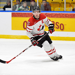 WHITBY, - Dec 18, 2015 -  Game #12 - Bronze Medal Game, Team Canada East vs. United States at the 2015 World Junior A Challenge at the Iroquois Park Recreation Complex, ON.  Maxime St. Pierre #25 of Team Canada East during the first period<br /> (Photo: Shawn Muir / OJHL Images)