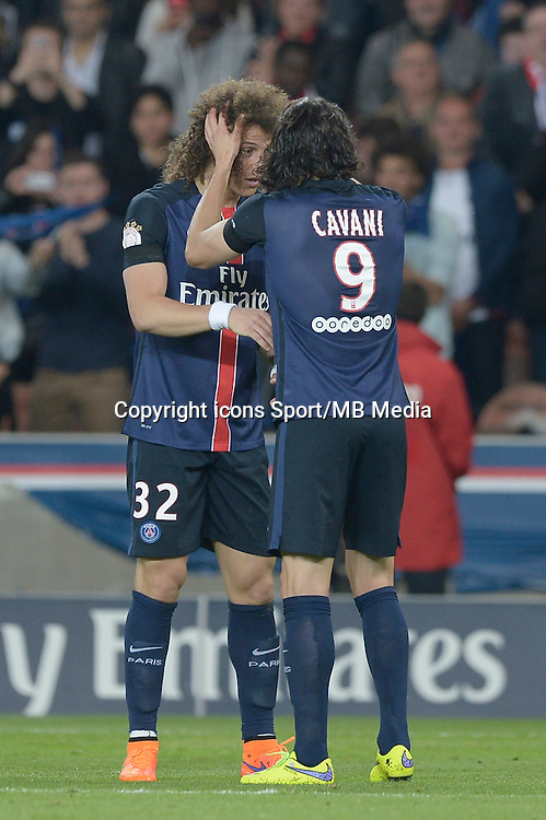 joie PSG / David Luiz / Edinson Cavani - 23.05.2015 - PSG / Reims - 38eme journee de Ligue 1<br />