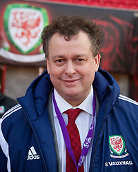 LLANELLI, WALES - Wednesday, April 9, 2014: Wales' Tin Lewis before the FIFA Women's World Cup Canada 2015 Qualifying Group 6 match against Ukraine at Parc-y-Scarlets. (Pic by David Rawcliffe/Propaganda)