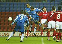 Fotball<br /> Foto: SBI/Digitalsport<br /> NORWAY ONLY<br /> <br /> Wigan Athletic v Crewe Alexandra.<br /> Coca-Cola Championship.<br /> <br /> 19/10/2004.<br /> <br /> Wigan's Lee McCulloch scores the first goal