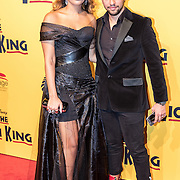 NLD/Scheveningen/20161030 - Premiere musical The Lion King, April Darby en partner Alessandro Pierotti