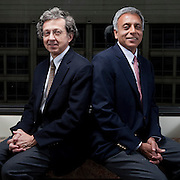 Yves Balcer and Sanjiv Kumar of Fort LP pose for a portrait at the offices in Chevy Chase, Maryland on February 7, 2011.